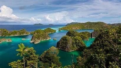 Indonesia Islands Raja Ampat Wallpapers Exotic Ocean