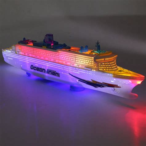 ocean liner cruise ship boat electric toy flashing led