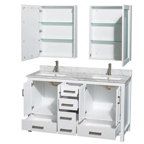 24 inch white bathroom vanity sheffield 60 inch sink bathroom vanity white finish