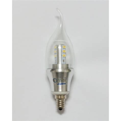 6 pack led candelabra bulb daylight dimmable e12 6w 60w 60