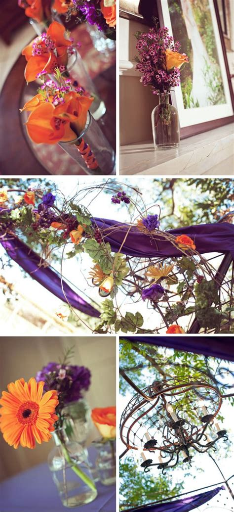 purple rustic fall wedding in wedding the purple and the