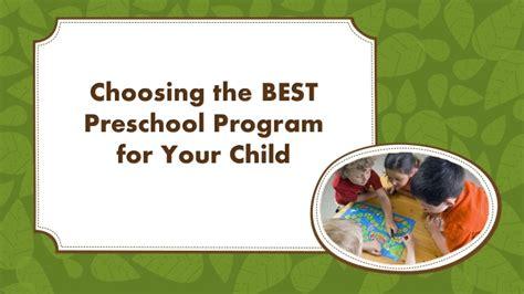 choosing preschool choosing the best preschool program for your child 645