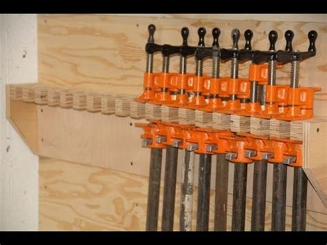 pipe clamp storage rack youtube