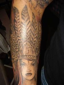 Aztec Feathers Tattoos images