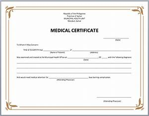 Hospital Medical Certificate Format 19 Medical Certificate Templates For Leave Pdf Docs