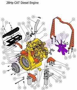 Bad Boy Mower Part  2013 Diesel Engine 28hp Cat