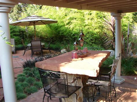 Outdoors Patio : Stone Patio Tables Ideas