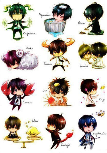 Anime Boy Zodiac Zodiac Chibi And Aries On