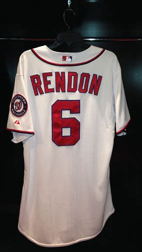 anthony rendon opening day game  jersey mlb auctions