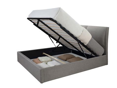 deco de chambre de bebe lit coffre alceo tissu gris clair ou anthracite 160 200cm
