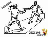 Coloring Pages Fencing Olympic Sports Summer Games Olympics Fencer Yescoloring Fence Colouring Activites Fencers Template Results sketch template