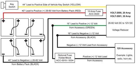 48 Volt Wiring Diagram Reducer by Golf Cart Voltage Reducer 26 60v To 12 Volt 30