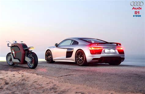 Futuristic R1 E-tron Concept Motorcycle Proposal For Audi