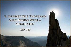 A journey of a thousand miles begins with a single step ...
