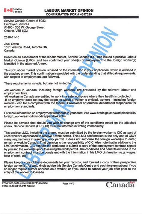 sle employment letter for immigration ideas sle