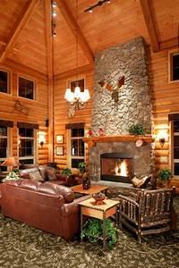 Log Cabin Homes & Kits: Interior Photo Gallery Log