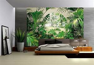 photo wallpaper winter garden wall mural design in naas With markise balkon mit wall tapete