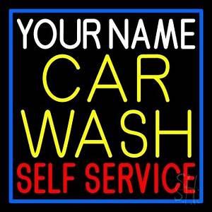 Custom Car Wash Self Service Neon Sign