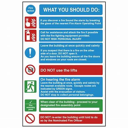 Fire Safety Should Sign Action Signs