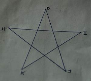 Comment Faire Une Etoile : comment tracer une toile cinq branches le blog de c l ~ Nature-et-papiers.com Idées de Décoration