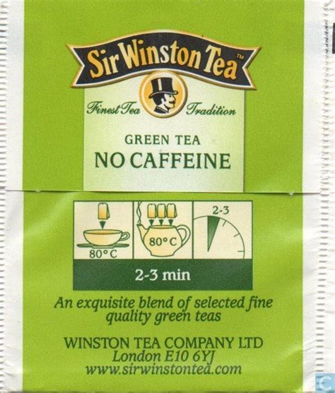 is green tea caffeinated green tea no caffeine sir winston tea catawiki
