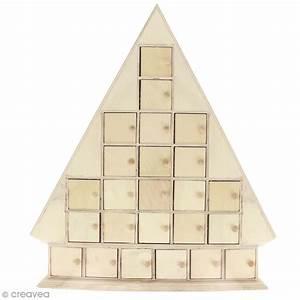 Calendrier De L Avent En Bois à Décorer : calendrier de l 39 avent en bois sapin 51 cm calendrier ~ Zukunftsfamilie.com Idées de Décoration