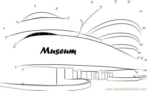 Guggenheim Museum Dot To Dot Printable Worksheet