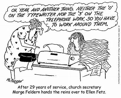 Church Secretary Changing Humor Office Cartoons Religion