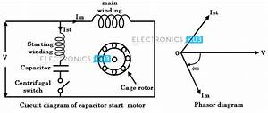 Single Phase Motor With Two Capacitor Wiring Diagram
