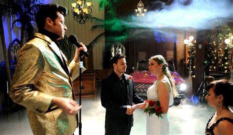 elvis pink caddy las vegas wedding