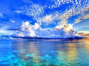 papel de parede clouds the sea techtudo