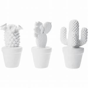 Deco cactus blanc 3set kare design for Mobilier de jardin moderne 16 deco cactus blanc 3set kare design