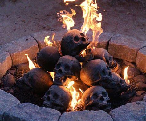 Skull Gas Fireplace Logs Dudeiwantthatcom