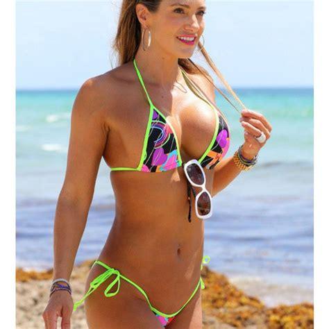 lee pace bikini 2016 hot sexy womens string love peach print wrap triangle