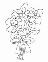 Columbine Coloring Bouquet Pages sketch template