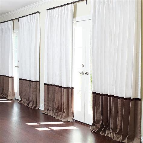 how should curtains be to puddle curtain