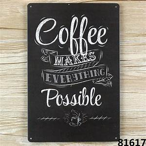 Aliexpresscom buy coffee make everything possible for Best brand of paint for kitchen cabinets with where to buy metal wall art