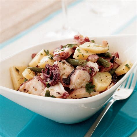 octopus recipes octopus salad with potatoes and green beans recipe