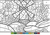 Coloring Windmill Supercoloring Sheets Numbers Paint Printable Castle Worksheets Bouncy Afkomstig Van Categories sketch template