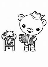 Octonauts Coloring Barnacles Captain Accordion Playing Pages Clipart Drawing Clipartmag sketch template