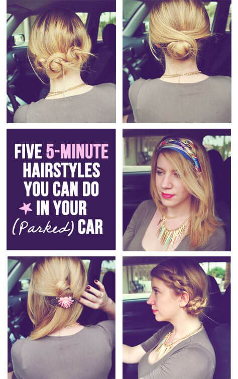 5 super quick easy hairstyles you can do in your parked