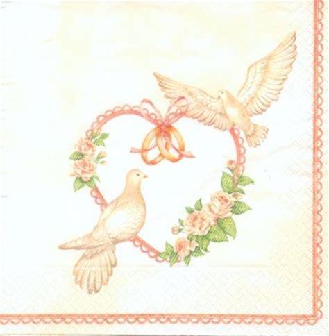 mariage serviette papier motif mariage 2 colombes