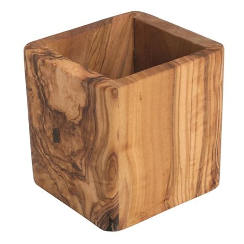olive wood kitchen accessories olive wood square utensil holder lehman s 3674