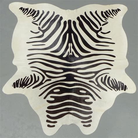 Cowhides International Reviews by Stenciled Zebra Print Cowhide Rug Cowhidesinternational