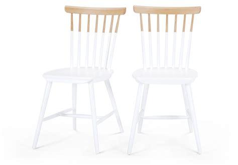 chaise bois blanc chaise bicolore blanc et bois