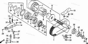 Honda Motorcycle 1981 Oem Parts Diagram For Primary Shaft