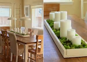 tischdeko wohnzimmer frühlingsdeko basteln als kreative tischdeko mit kerzen und moss freshouse