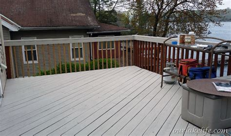 our lake when the time had come to paint the deck