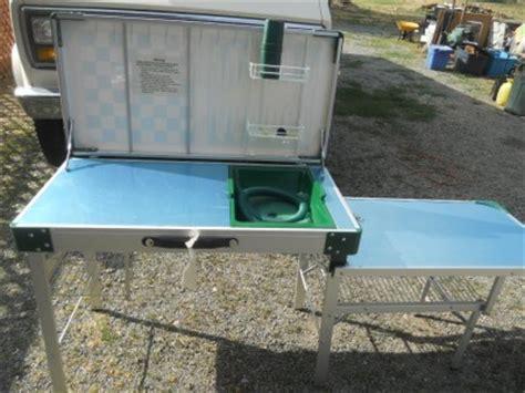 Vintage Coleman Folding Camp Kitchengame Tablecaseno