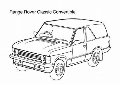 Coloring Rover Range Pages Super Convertible Classic